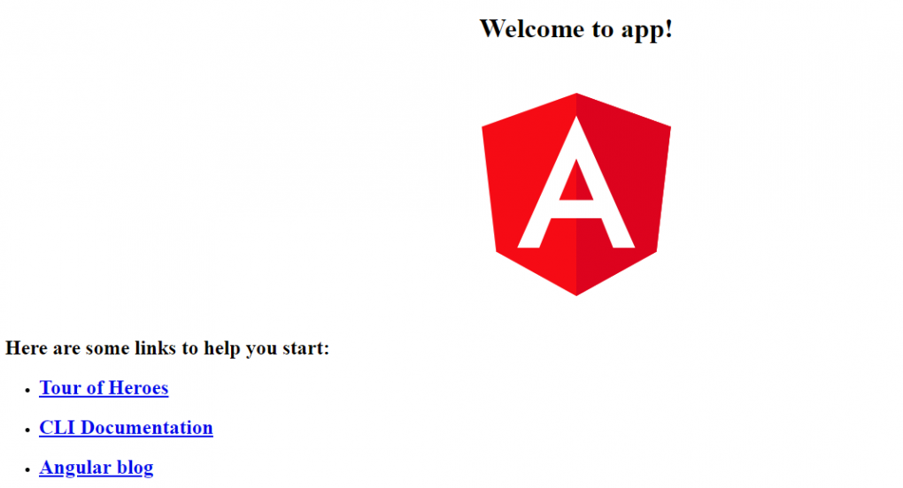 Angular application execution