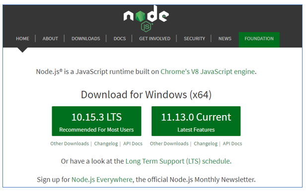 installing node js on your system