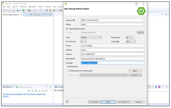 Creating Spring boot MVC maven project